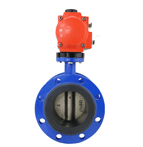 Pneumatic Flanged Butterfly Valve2