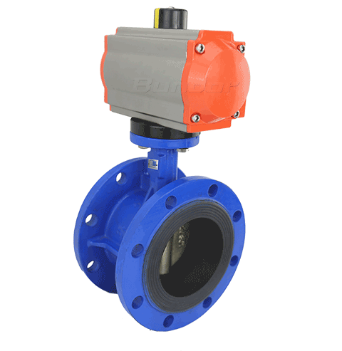 Pneumatic Flanged Butterfly Valve4