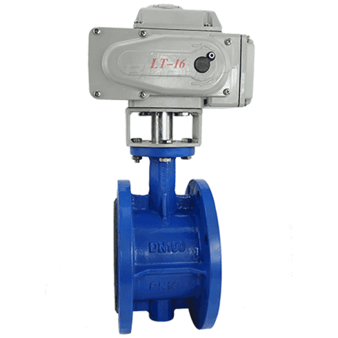 Motorized Flanged Butterfly Valve
