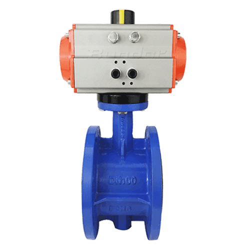 Pneumatic Flanged Butterfly Valve1