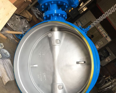 Bundor triple eccentric welded hard seal butterfly valve exported to South America