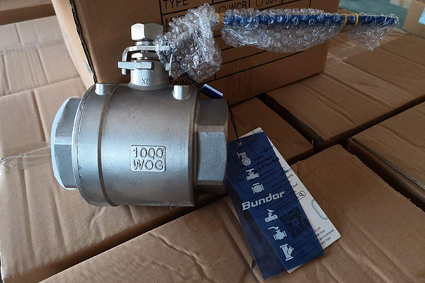 Bundor stainless steel ball valve exported to Singapore