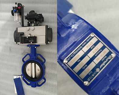 European customers purchase the Pneumatic Wafer Butterfly Valve of Bundor