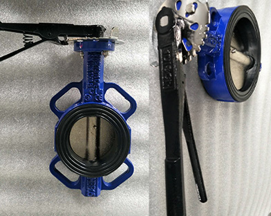 A company in North America purchases gray iron wafer butterfly valves of Bundor