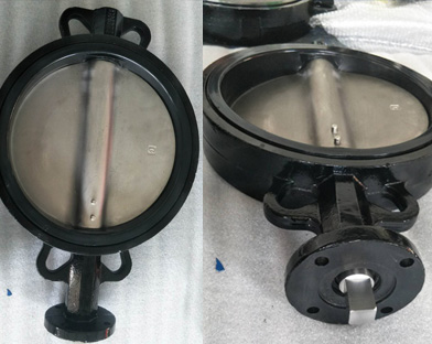 A European customer purchases the ductile iron wafer butterfly valve of Bundor