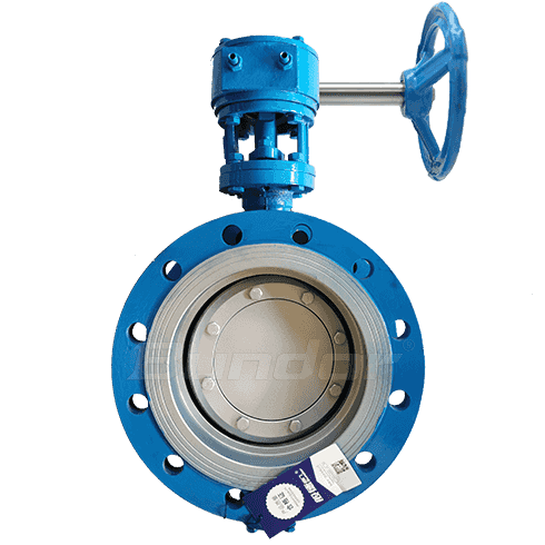 WCB Flanged Double Eccentric Butterfly Valve
