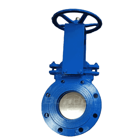 Hand operated knife gate valve